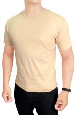 Harga Gudang Fashion Kaos Polos Pendek Pria O Neck Cream Paling Murah