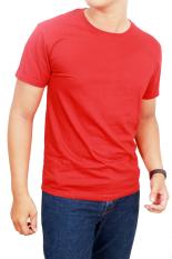 Spesifikasi Gudang Fashion Kaos Polos Pendek Pria O Neck Merah Lengkap