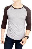 Beli Gudang Fashion Kaos Polos Raglan Cotton Combed S20 Misty Coklat Banten