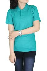Gudang Fashion - Kaos Polos Wanita Kerah Tosca Tua - Tosca Tua