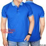 Gudang Fashion Kaos Pria Berkerah Terbaru Biru Benhur Original