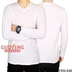 Gudang Fashion - Kaos Pria Lengan Panjang Distro - Putih