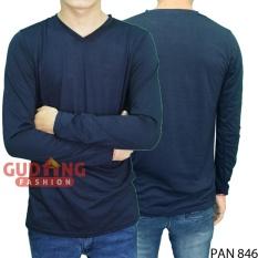 Gudang Fashion - Kaos Pria Lengan Panjang Modis - Dongker