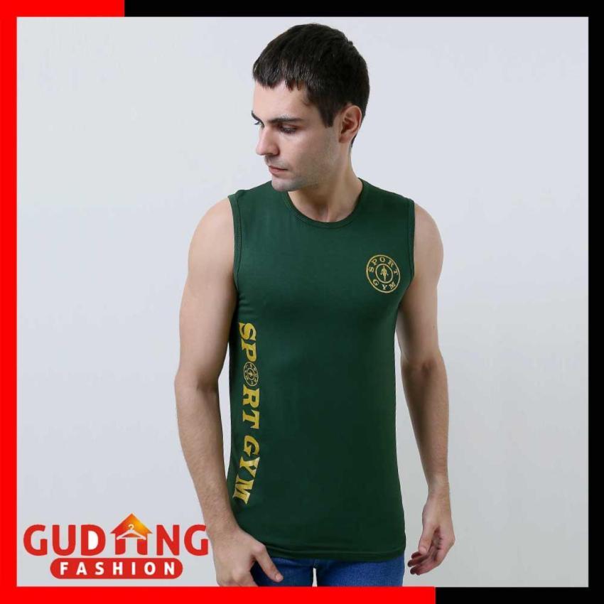 Beli Gudang Fashion - Kaos Singlet Cowok - Hijau Tua Dijual Jual ... e64f647ac4