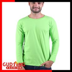 Beli Gudang Fashion Kaos Smart Casual Pria Panjang Hijau Stabilo Lengkap