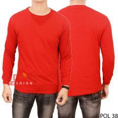 Gudang Fashion - Kaos Tshirt Keren Panjang Pria - Merah
