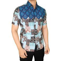Harga Gudang Fashion Kemeja Batik Anak Muda Biru Gudang Fashion Online