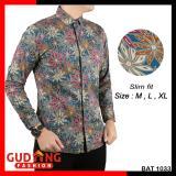 Tips Beli Gudang Fashion Kemeja Batik Lengan Panjang Slim Fit Kombinasi Warna