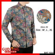 Toko Gudang Fashion Kemeja Batik Lengan Panjang Slim Fit Kombinasi Warna Online Banten
