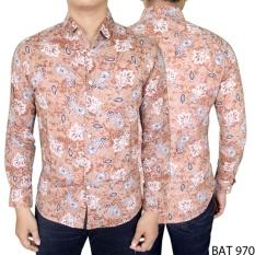 Gudang Fashion - Kemeja Batik Pria Elegan - Krem