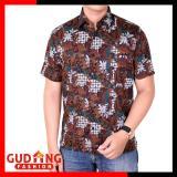 Gudang Fashion Kemeja Batik Pria Modern Coklat Gudang Fashion Diskon 40
