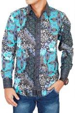 Beli Gudang Fashion Kemeja Batik Slimfit Hijau Online Terpercaya