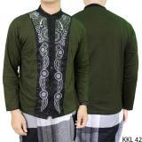 Spesifikasi Gudang Fashion Kemeja Koko Casual Keren Hijau Tua Yg Baik