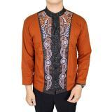 Harga Gudang Fashion Kemeja Koko Lengan Panjang Muslim Pria Coklat Muda Jawa Barat
