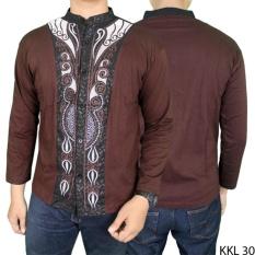 Gudang Fashion - Kemeja Koko Muslim Panjang - Coklat Tua