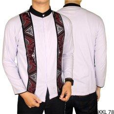 Beli Gudang Fashion Kemeja Koko Putih Lengan Panjang Putih Banten