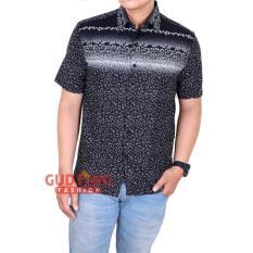 Harga Gudang Fashion Kemeja Modern Pria Batik Hitam Original