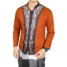 Jual Gudang Fashion Kemeja Muslim Pria Coklat Branded Murah