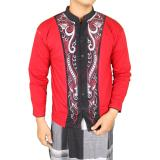 Beli Gudang Fashion Kemeja Muslim Pria Merah Murah