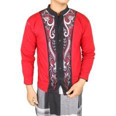 Spek Gudang Fashion Kemeja Muslim Pria Merah Jawa Barat