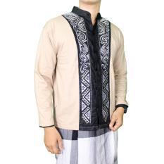 Gudang Fashion - Kemeja Panjang Koko Muslim - Krem