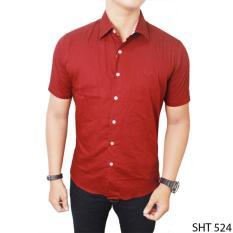 Daftar Harga Gudang Fashion Kemeja Pendek Formal Polos Slim Fit Pria Banyak Warna Gudang Fashion