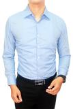 Gudang Fashion Kemeja Pria Slim Fit Biru Langit Banten Diskon 50