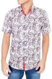 Beli Gudang Fashion Kemeja Slim Fit Batik Pendek Pria Putih Yang Bagus