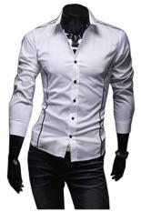 Promo Gudang Fashion Kemeja Slim Fit Model Korea Putih Murah