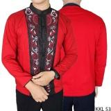 Jual Gudang Fashion Kemeja Terbaru Koko Panjang Merah Branded