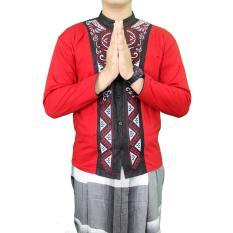 Gudang Fashion - Koko Kemeja Muslim Panjang - Merah
