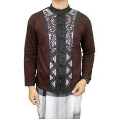 Spesifikasi Gudang Fashion Koko Kemeja Panjang Muslim Coklat Tua Merk Gudang Fashion