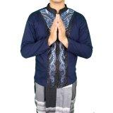 Beli Gudang Fashion Koko Lebaran Muslim Pria Terbaru Biru Navy Seken