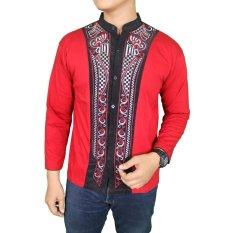 Gudang Fashion - Koko Lengan Panjang Terbaru - Merah