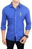 Beli Gudang Fashion Male Fashion Shirts Biru Nyicil