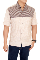 Harga Gudang Fashion Male Short Sleeve Shirts Krem Termurah