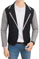 Jual Gudang Fashion Male Stretch Blazer Hitam Kombinasi Gudang Fashion Murah
