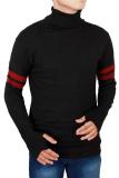 Spesifikasi Gudang Fashion Male Sweater Knit Hitam Dan Harganya