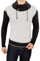 Gudang Fashion Man Harajuku Sweaters Grey Black Gudang Fashion Diskon 30
