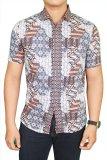 Spesifikasi Gudang Fashion Man Slim Fit Batik Abu Paling Bagus