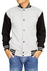 Spesifikasi Gudang Fashion Men Baseball Jacket Abu Yg Baik