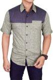 Diskon Gudang Fashion Men Plain Slimfit Shirts Hijau Gudang Fashion