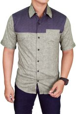Jual Gudang Fashion Men Plain Slimfit Shirts Hijau Branded Original