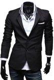 Spesifikasi Gudang Fashion Mens Casual Slimfit Korean Blazers Hitam Dan Harga