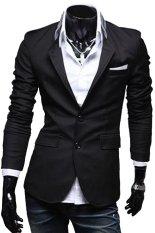 Harga Gudang Fashion Mens Casual Slimfit Korean Blazers Hitam Gudang Fashion Original