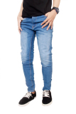 Beli Gudang Fashion Men S Jeans Straight Slim Skinny Pants Biru Biru Cicilan