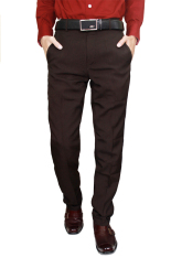 Spek Gudang Fashion Mens Slim Fit Long Pants Coklat Tua Banten