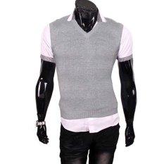 Gudang Fashion - Pakaian Rompi Pria - Abu-Abu