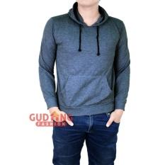 Harga Gudang Fashion Pakaian Sweater Kardigan Pria Abu Muda Satu Set