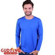 Ulasan Gudang Fashion Pakain Kaos Panjang Pria Biru